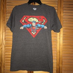 Other - Men's Superman Graphic Gray Short Sleeve Tee Shirt